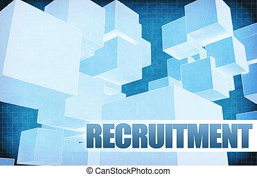 recrutement, résumé, futuriste