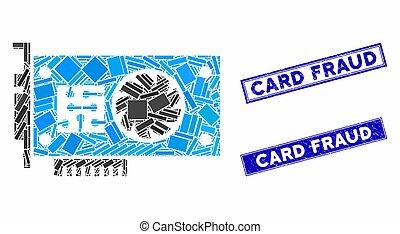 rectángulo, mosaico, rasguñado, acelerador, filigranas, tarjeta, gpu