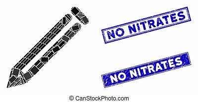 rectángulo, sellos, rasguñado, lápiz, no, nitrates, estampilla, mosaico
