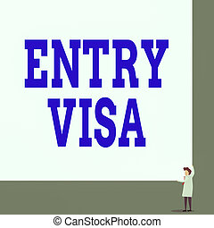 rectangle., ない, 光景, 前部, 手, visa., 国, 権利, 印, 入りなさい, 2, テキスト, 写真, 女, 許可, 提示, あなた, 国民, 大きい, 記入項目, 若い, コーナー, ブランク, 概念, 保有物