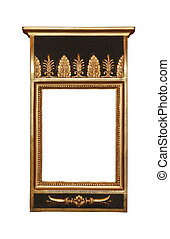 Rectangle antique wooden frame