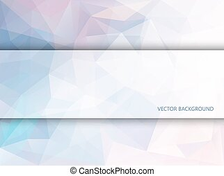 Rectangle banner on polygonal background