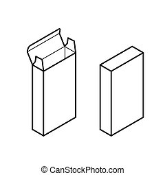 Box vector. Image of boxes vector , outline and shade eps ...