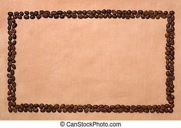 Rectangle coffee frame. - Rectangle frame made of two rows...