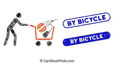 Rectangle Collage Medical Shopping with Distress By Bicycle Stamps