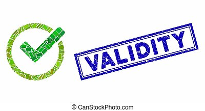Rectangle Collage Validity with Distress Validity Stamp