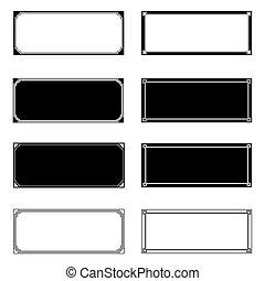 Rectangle Frames Set for your design. EPS10 vector.