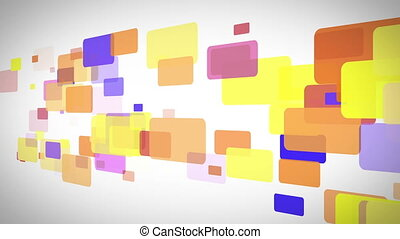 Rectangle full of color moving - Background of rectangle...