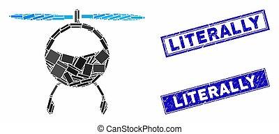 rectangle, gratté, hélicoptère, literally, filigranes, ...