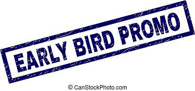 Rectangle Grunge EARLY BIRD PROMO Stamp