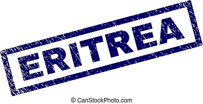 Rectangle Grunge ERITREA Stamp