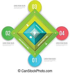 Rectangle infographics options