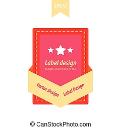 Rectangle label yellow, pink, red color