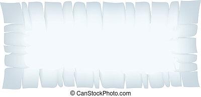 Rectangle Light Blue Torn Banner - Illustration of Rectangle...