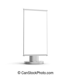 Rectangle light box mockup, 3d rendering sign board template...
