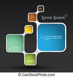 rectangle modern - vector business concepts / element object...
