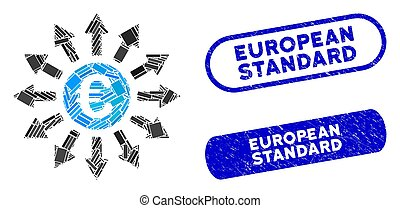 Rectangle Mosaic Euro Payments with Scratched European ...