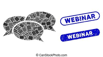 Rectangle Mosaic Webinar with Scratched Webinar Stamps