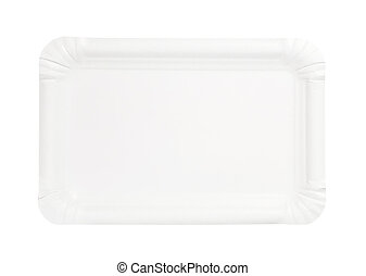 rectangle paper plate. disposable rectangle white paper plate  sc 1 st  Can Stock Photo & Rectangle paper plate. Disposable rectangle white paper plate.