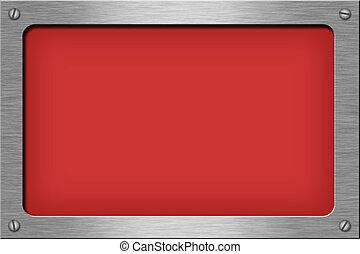 Rectangle - Metal plate series: rectangle.