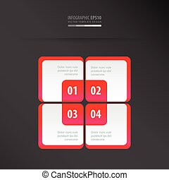 Rectangle presentation template neon pink
