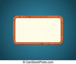 rectangle, route, panneau affichage