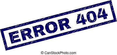 Rectangle Scratched ERROR 404 Stamp