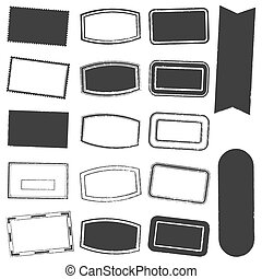 Rectangle Stamp Set Grunge