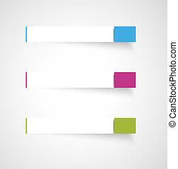 rectangle template - Set of three blank rectangle labels...