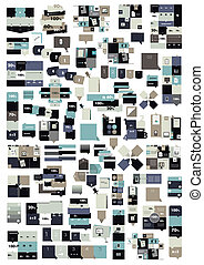 rectangle, templates., collection