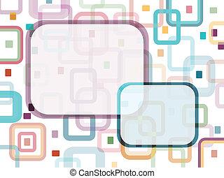 rectangles, à, message, étiquette
