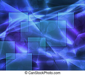 Rectangles Abstract Blue Background