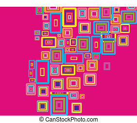 rectangles background - Rectangle stroke elements vector...
