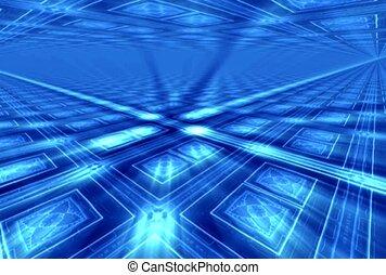 rectangles bleus, psychédélique