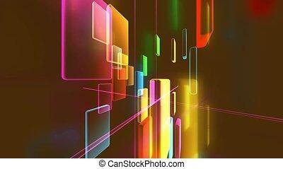 rectangles, coloré