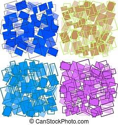 rectangles, ensemble, arrière-plans