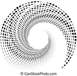 rectangles., innerlijk, abstract, spiraalvormig ontwerp,...