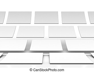 rectangles isolated over a white background