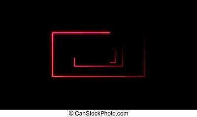 rectangles, résumé, néon, fond