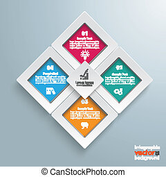 Rectangles Template 4 Options Infographic Centre