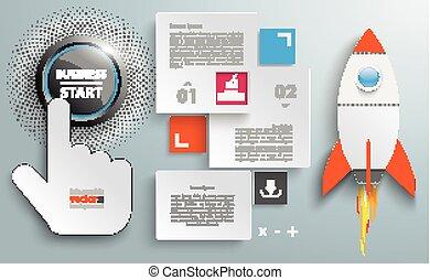 Rectangles Template Business Start Click Rocket