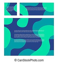 rectangulaire, pattern., ondulé, social, ton, géométrique, bleu, sous, text., problème, arrière-plans, shapes., lisser, carrée, ensemble, résumé, écologie, networks., endroit