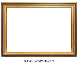 Isolated illustration of a rectangular Georgian picture frame