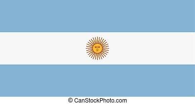 Rectangular Argentina flag