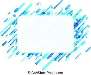Rectangular blue abstract background on white.