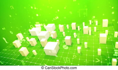 """""""Rectangular business indexes in the salad backdrop"""" - """"An..."""