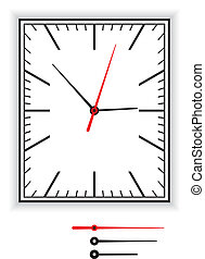 Rectangular Clock Face - Rectangular clock face as part of...