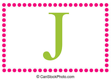 Rectangular Dots Monogram J