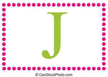 Rectangular Dots Monogram J