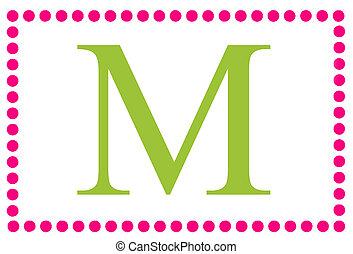 Rectangular Dots Monogram M